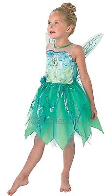 Girls Disney Tinkerbell Fairy Peter Pan Book Day Week Fancy Dress Costume Outfit