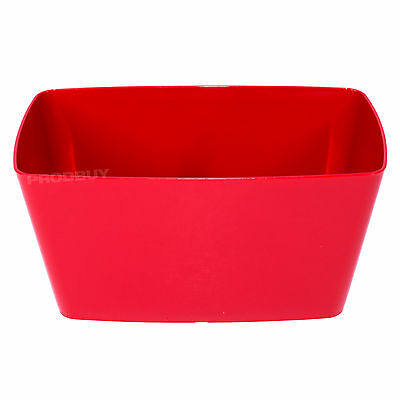 3 X Red Rectangular Indoor Plant Pot Covers Planters Herb