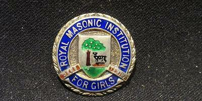 Royal Masonic Institution For Girls Deus Teutor Vintage Button Cover