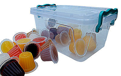Insect,beetle Jelly Pots -  X 15. Mixed Flavours - With Vented Bug Box