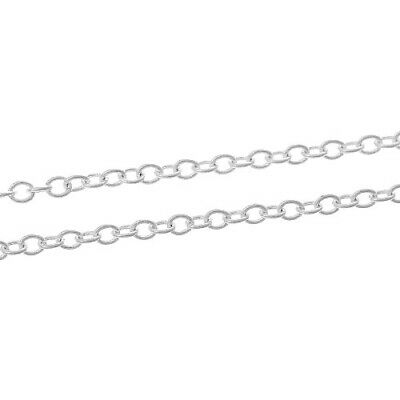 10m x Silver Plated Iron Alloy 3 x 4mm Open Cable Chain CH1355