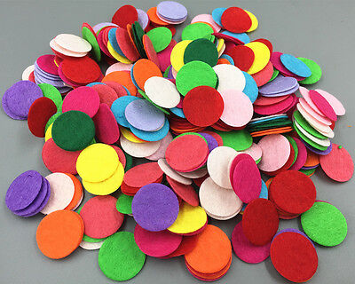 400pcs Mix Colors Die Cut Felt Circle Appliques Cardmaking decoration 20mm