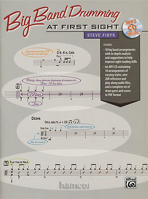 Big Band Drumming At First Sight Drum Sight-Reading Music Book/MP3CD