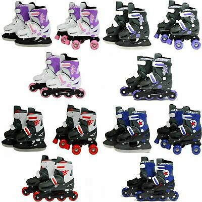 SK8 Zone 3in1 Inline Pro Roller Skates Ice Skating Boots Adjustable Shoes Blades