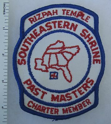 SOUTHEASTERN SHRINE RIZAH TEMPLE Vintage PATCH PAST MASTERS