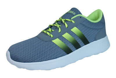 best value 130a2 cfe8c adidas Neo Lite Racer Mens Running Sneakers  Shoes - Gray and Green