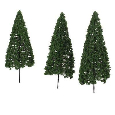 10pcs Layout Scenery Landscape Model Cedar Trees 8cm-12cm Vary Scale To choose