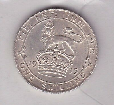 1915 George V Silver Shilling In Extremely Fine Condition