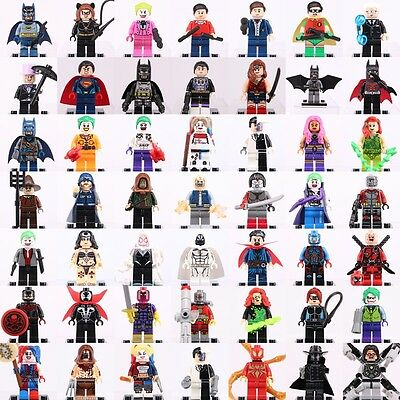 Marvel & Dc Comics Superheroes Suicide Squad Batman Mini Figures Custom Lego toy