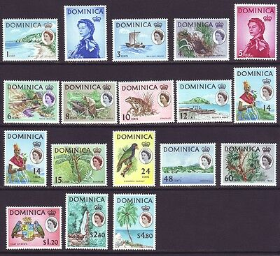 Dominica 1963 SC 164-180, 173a MH Set