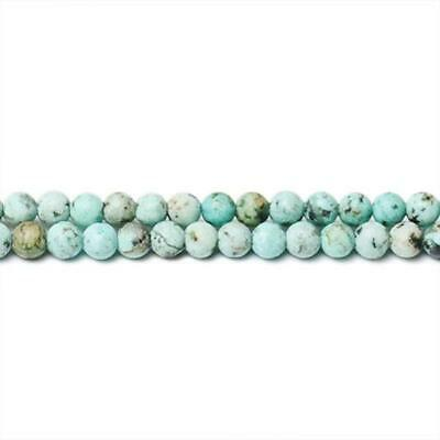 Strand Of 120+ Blue/Green African Turquoise 3mm Plain Round Beads CB31322-2