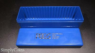 Official PCGS Certified Coin Slab Holder Plastic Storage Box Blue Lightly Used