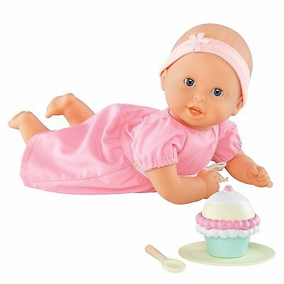 """Corolle DOLL 12"""" MON PREMIER CALIN CUPCAKE SET Pink New Snacks Baby Doll NEW"""