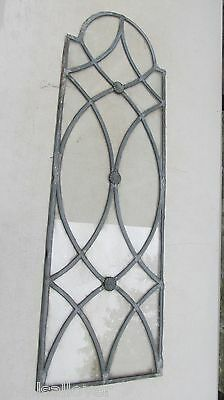 Vintage Leaded   Glass  Glass  Panel  31 X 10 by Carl Lehfeldt Art Glazier
