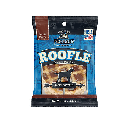 Redbarn 50ct roofle Dog Treats Chews FRESH Rawhide Chicken Maple Bully Roofles