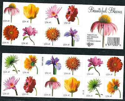 Scott  #4185a...41 Cent...Beautiful Blooms...2 Sided Booklet of  20