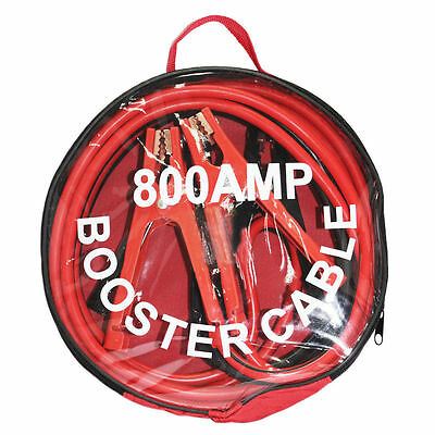 NEW 800amp 4m Long Heavy Duty Battery Jump Start Leads Cable Car Van Boost