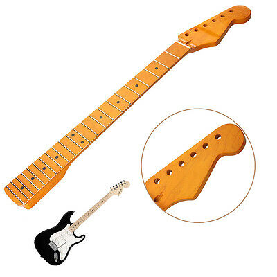 22 Fret Electric Guitar Neck for ST Parts Maple Wood Replacement Smooth Surface