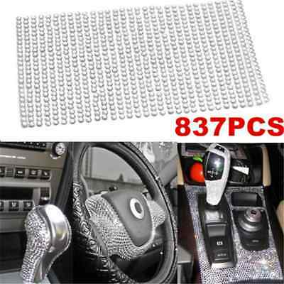 Luxury 837PCS Bling Crystal Rhinestone Car Styling Sticker Decor Accessories 3mm