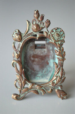 Miniature antique brass photograph frame table top picture frame photo PF6