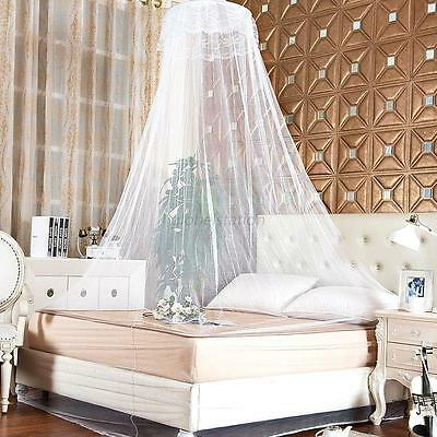 Elegant Lace Bed Mosquito Netting Mesh Princess Canopy Round Dome Bedding Net