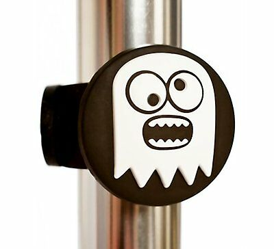 Scoobit White Ghost Kids Scooter Bike Badge Scoobits Scooter Accessory Halloween