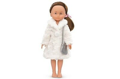 """COROLLE Les Cheries Dolls Clothes FLUFFY COAT and BAG for 13"""" Doll New"""