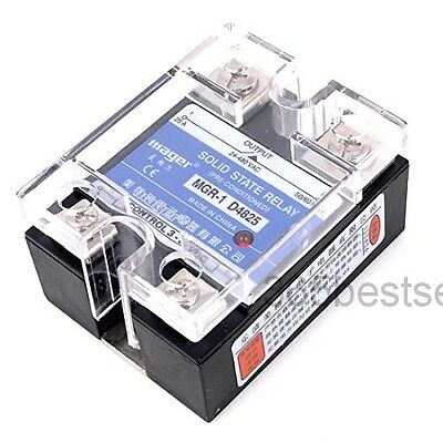 MGR-1 D4825 Single Phase Solid State Relay SSR 25A DC 3-32V AC 24-480V