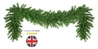 Artificial Pine GREEN Spruce Christmas Garland - 2.7 meters / 9ft x 28cm