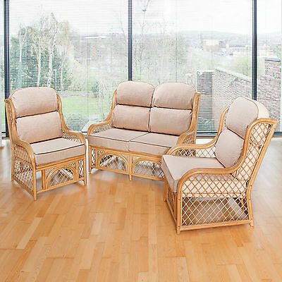 Alfresia Cadiz Cane Conservatory Furniture Full Suite with Luxury Cushions
