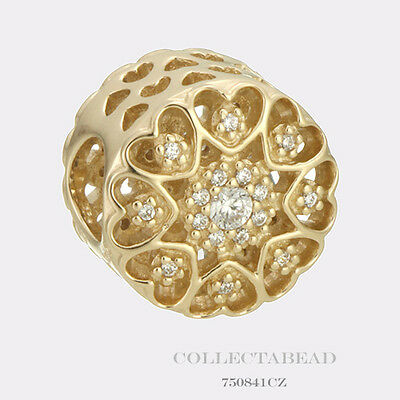 Authentic Pandora 14KT Gold Hearts Of Gold Bead 750841CZ