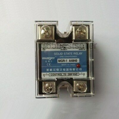 24-480V 40A Single Phase AC Control Solid State Relay MGR-1 A4840