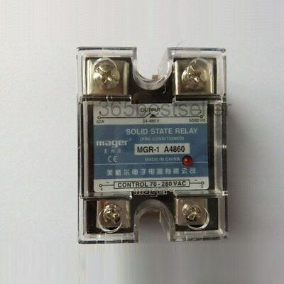 MGR-1 A4860 240-480V 60A AC to AC Solid State Module Relay w Cover