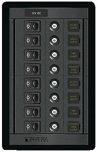 Blue Sea Systems 1457 PANEL 360 DC 8P SWITCH CLB