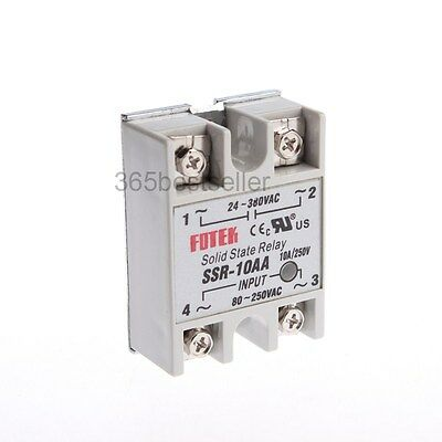 SSR-10AA AC 24-380V Output AC 80-250V Input Phase Solid State Relay