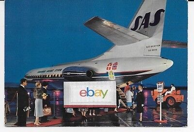 Sas Scandinavian Sud Caravelle Se-210-01 Boarding Airline Issue Postcard