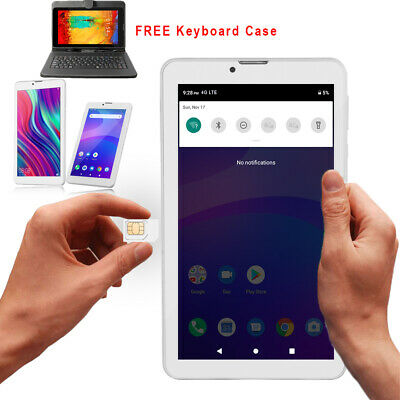 "7"" Unlocked 3G Android 4.4 TabletPC SmartPhone w/ SmartCover & Bundled Items"