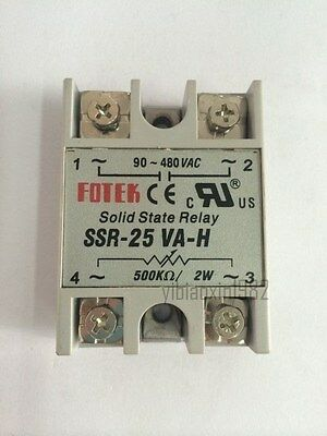 New One piece  Solid State Relay SSR-25 VA-H  500KΩ / 2W , 90~480V AC