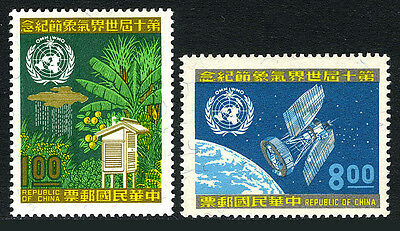 China Taiwan 1651-1652, MNH. Annual World Meteorological Day, 1970