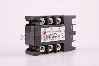 DC to AC 3 Phase Solid State Relay SSR-25DA 25A 5-32VDC / 380VAC