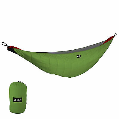 ENO Ember 2 UnderQuilt Blanket Camping Backpacking Hammock Lime/Charcoal