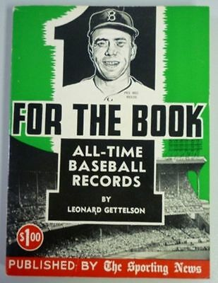 1957 One For The Book Published By The Sporting News