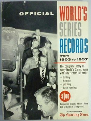 1958 Official World Series Records By The Sporting News