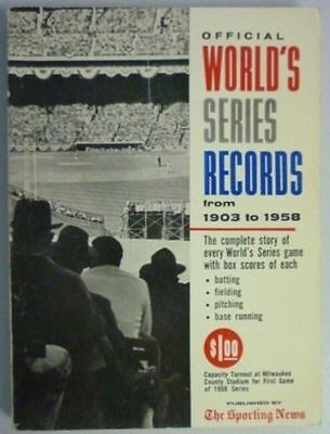 1959 Official World Series Records By The Sporting News