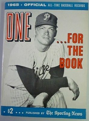 1965 One For The Book Published By The Sporting News
