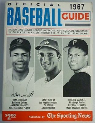 1967 Official Baseball Guide By The Sporting News