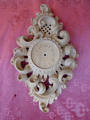 very nice Wall Clock__Watch case__wood carved__61cm__Tyrol_