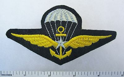 Post WW2 FRENCH NAVY PARACHUTE Wings PATCH Made for VETERANS & COLLECTORS