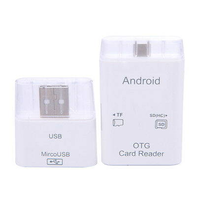 USB 2.0 OTG Micro SD Card Reader Adapter Connection Kit For Samsung Android PC