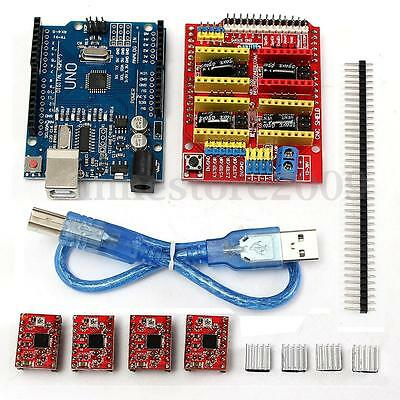 V 3.0 Engraver CNC Shield+Board+A4988 Stepper Motor Drivers For UNO R3 Arduino
